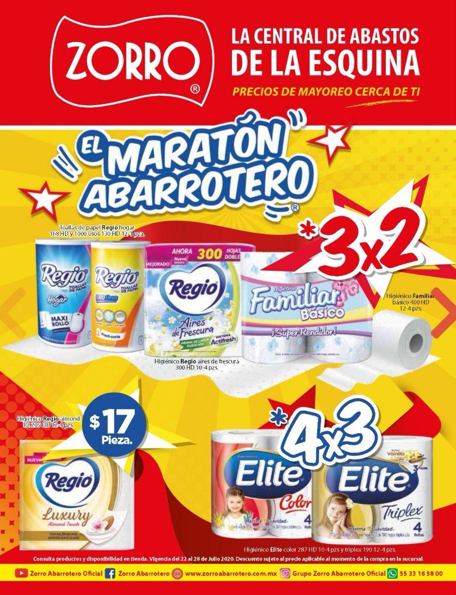 """Zorro: 7° Folleto de Ofertas Semanal """"El Maratón Abarrotero"""" del Miércoles 22 al Martes 28 de Julio"""