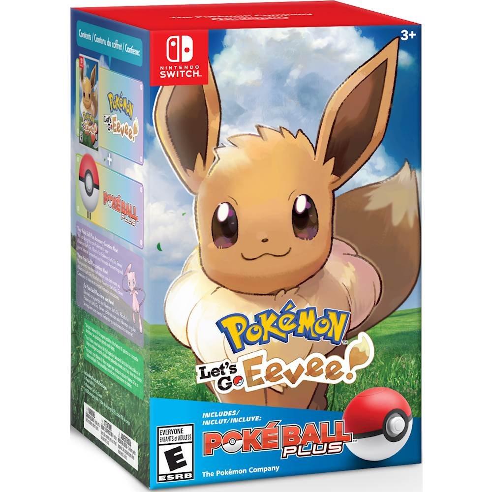 Best Buy: Nintendo - Let'sgo Evee + Pokebola - Roja