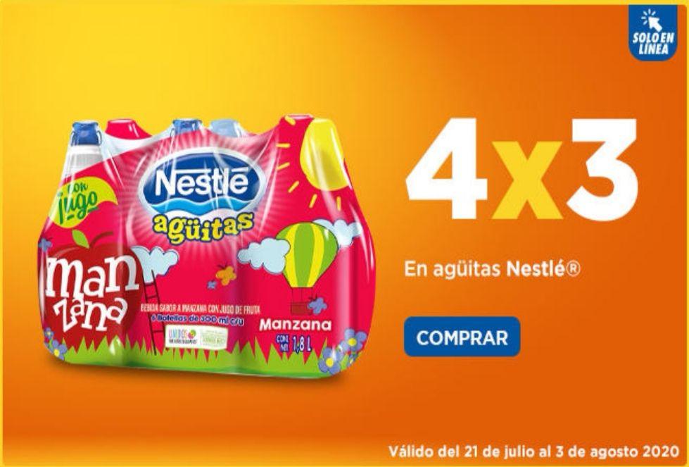 Chedraui: 4 x 3 en agüitas Nestlé 6 pack