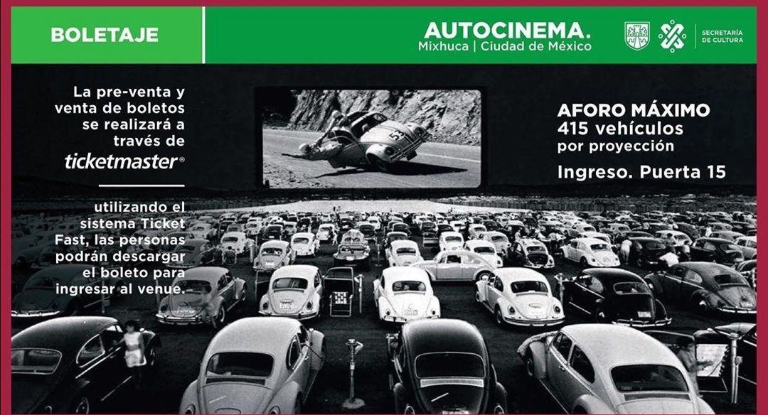 Ticketmaster: Autocinema Mixhuca, Autódromo H. Rodriguez $10 por auto