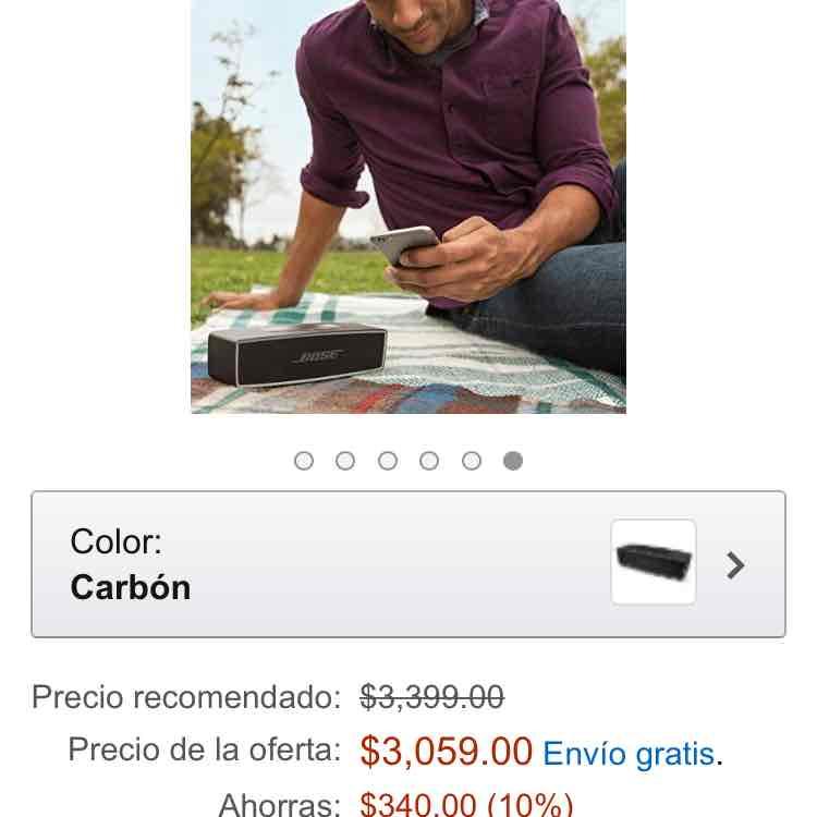 Ofertas Hot Sale Amazon: Bocina BOSE Soundlink mini 2 a $3,059 o menos pagando con Banamex