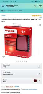 Amazon: Disco externo 4tb Toshiba DDUTOS730 Solid State Drives, 4000 GB, 2.5-Inch