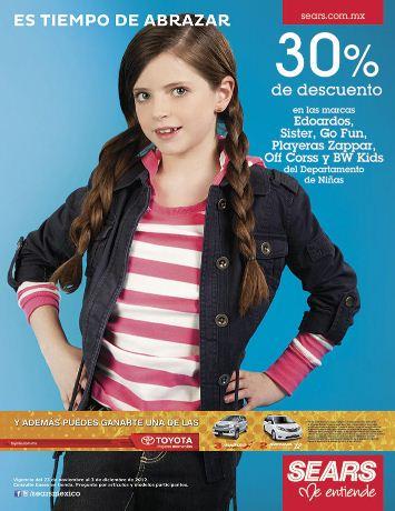 Sears: 20% de descuento en relojes, 15% en juguetería, 30% en ropa de niña y +