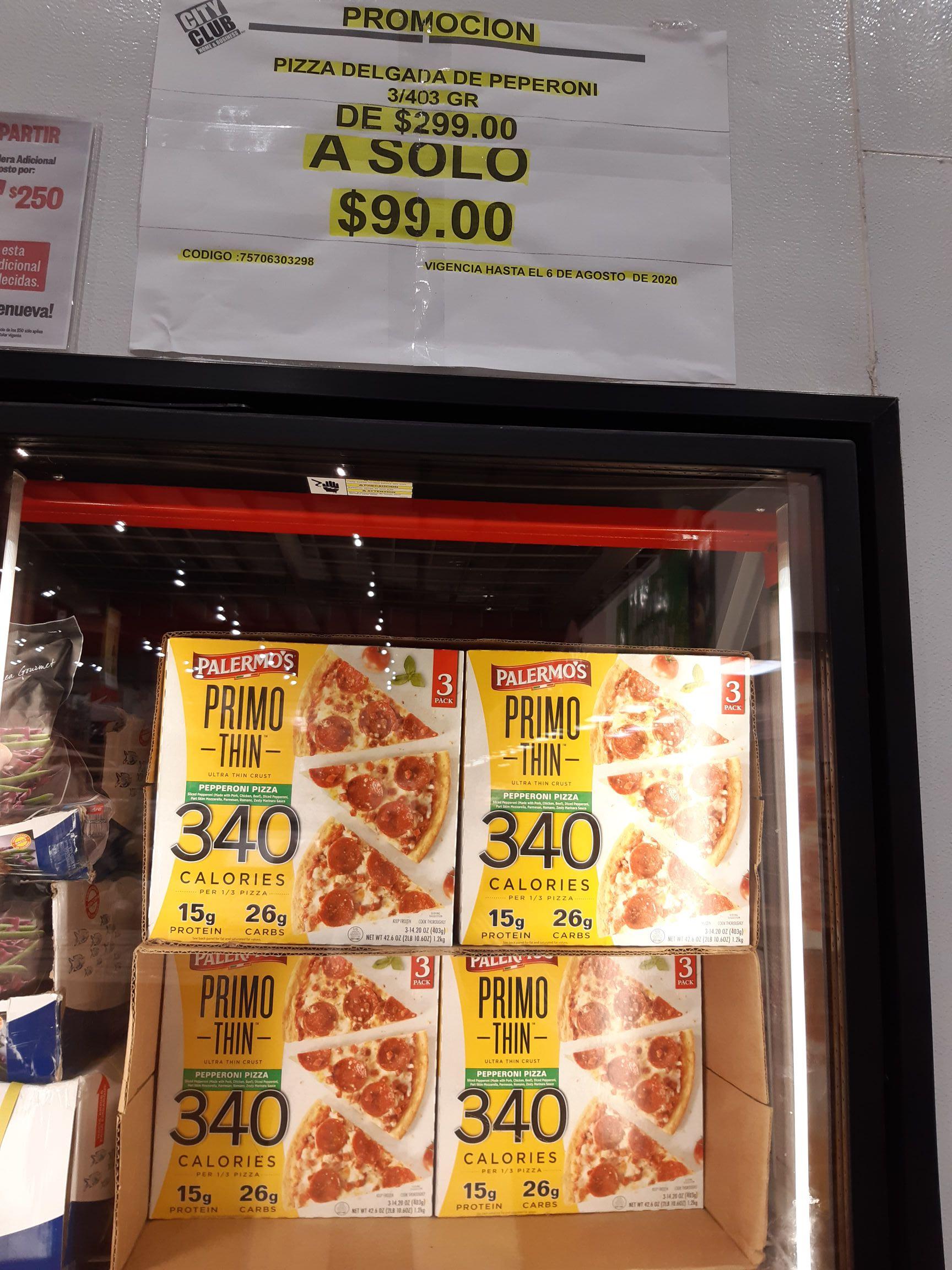 City Club: 3 Pizzas Palermo's pepperoni