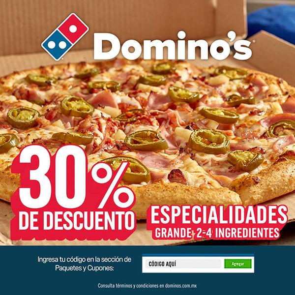 Alsea: Pizza grande Domino's 4 ingredientes al 30% de descuento