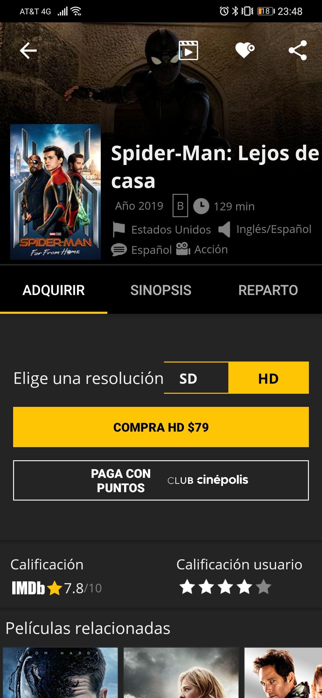 Cinepolis Klic: Spiderman Far From Home Klic