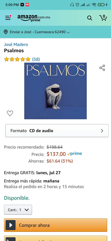 Amazon: José Madero - PSALMOS en CD