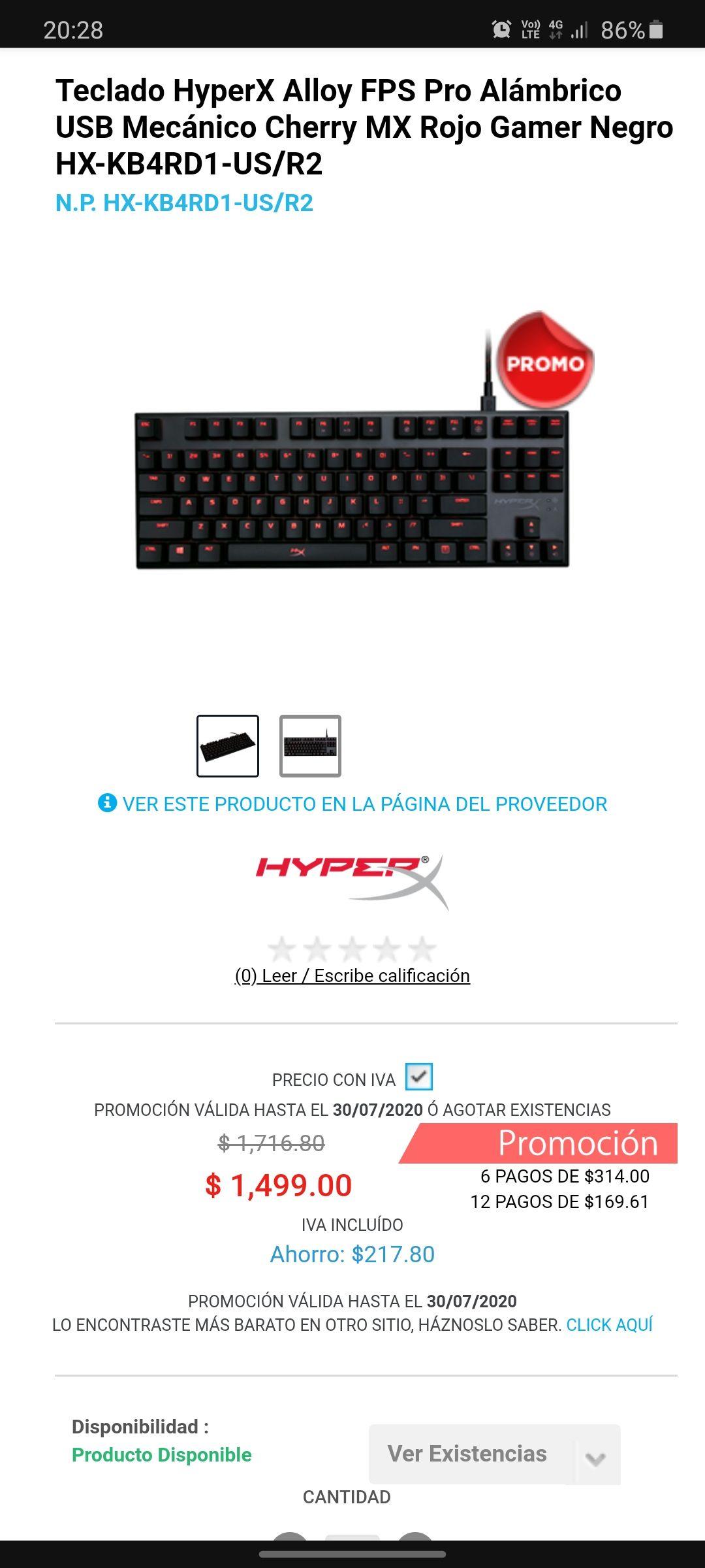 Digitalife: Teclado HyperX FPS Pro