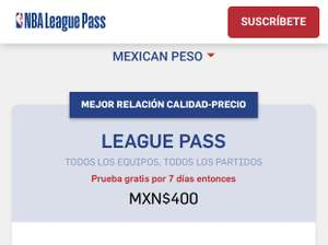 NBA League Pass Precio especial -50%