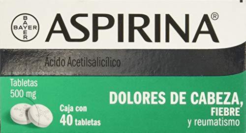 Amazon Mx: Aspirina 500 mg, 40 tabletas ($21.60 comprando 10)