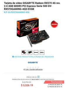 Digitalife: Tarjeta de video rx 570 4gb