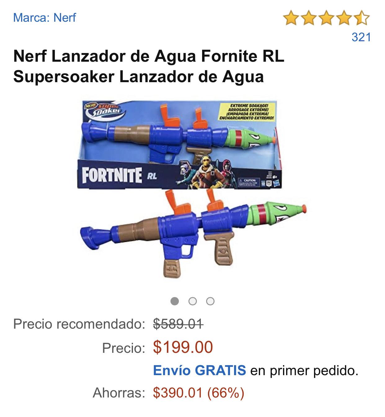 Amazon: Nerf Lanzador de Agua Fornite