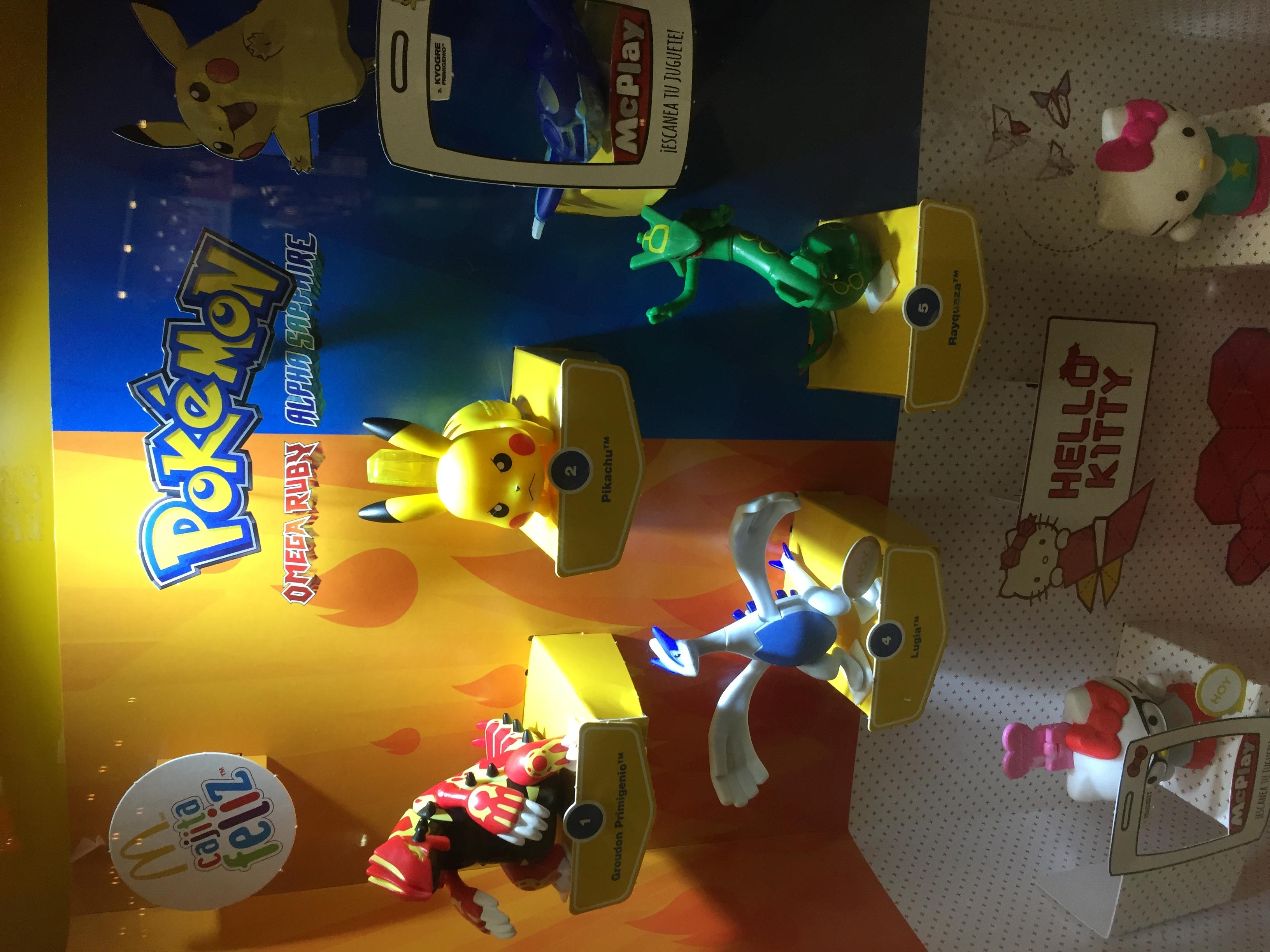 McDonald's. Figuras de Pokemon Omega Ruby @ Alpha Sapphire en cajita feliz