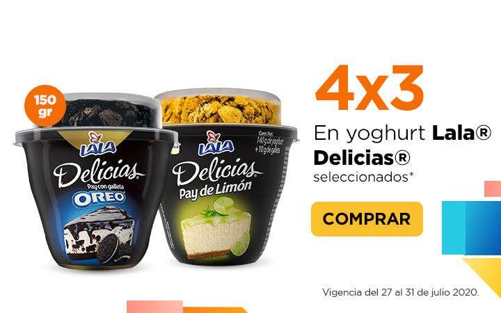 Chedraui: 4 x 3 en yoghurt Lala Delicias seleccionados