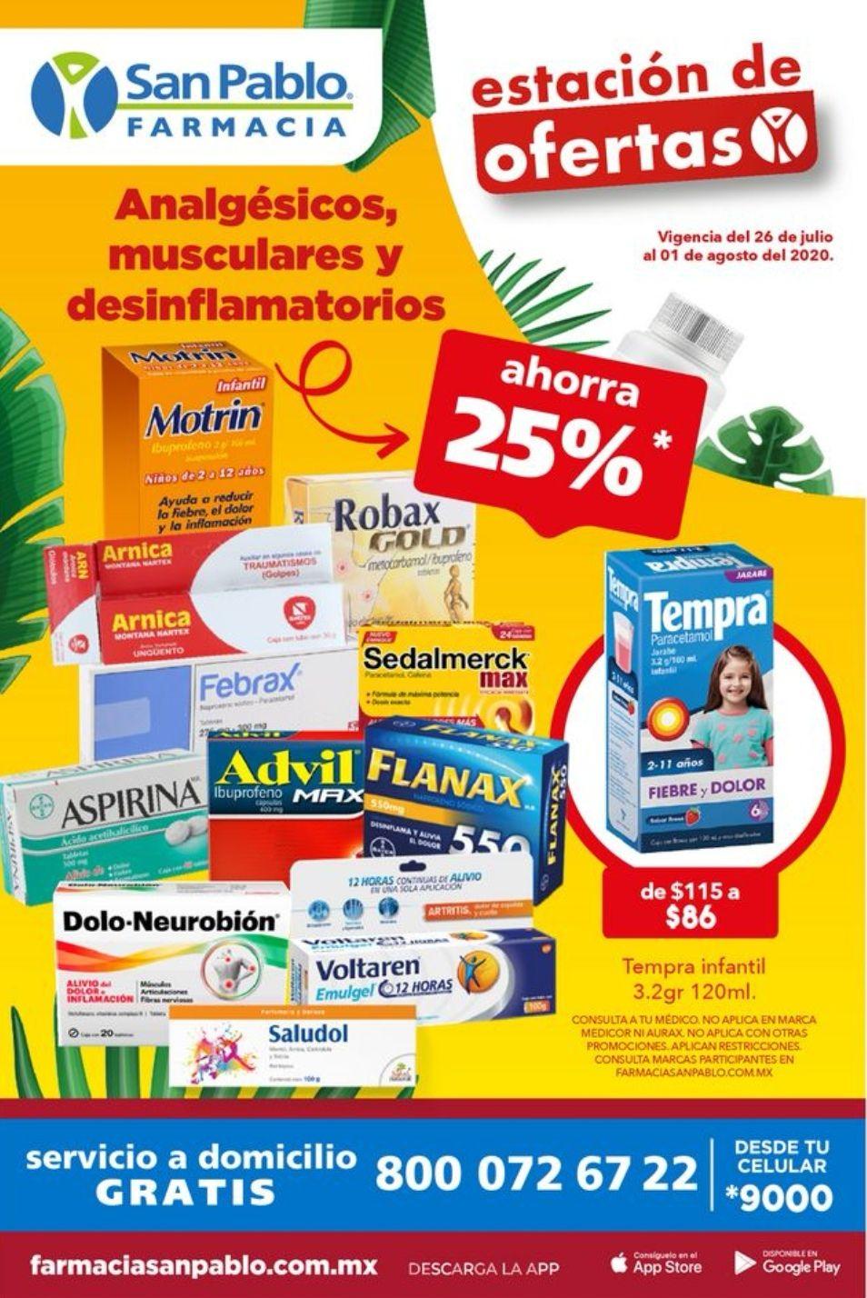 "Farmacias San Pablo: 5° Folleto de Ofertas Semanal ""Estación de Ofertas"" al Sábado 1 de Agosto"