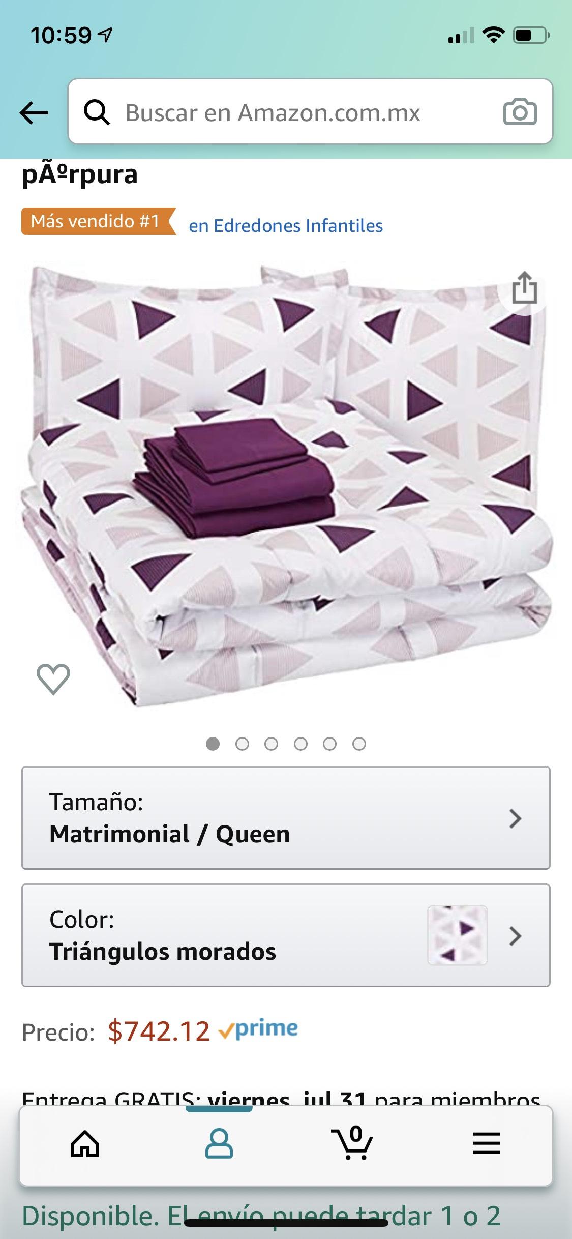Amazon: Juego de cama matrimonial/queen
