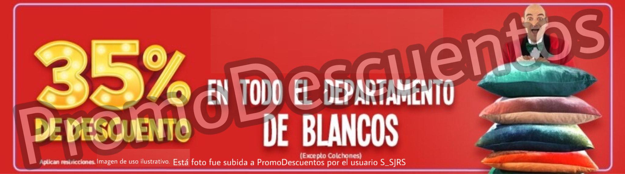 Julio Regalado 2020 en Soriana: 35% en TODO el depto de Blancos