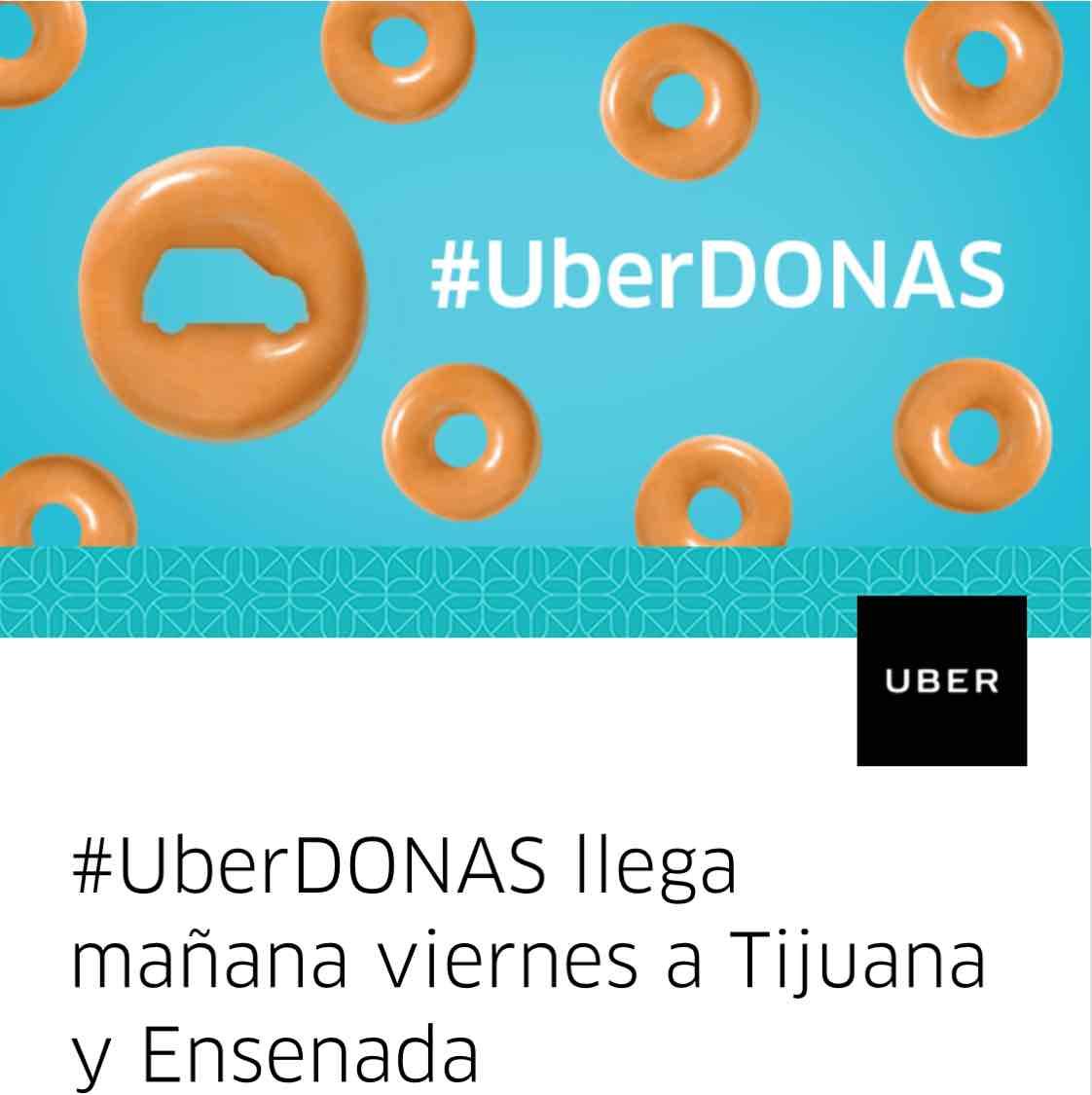 Uber donas gratis mañana en Ensenada y Tijuana, Baja California