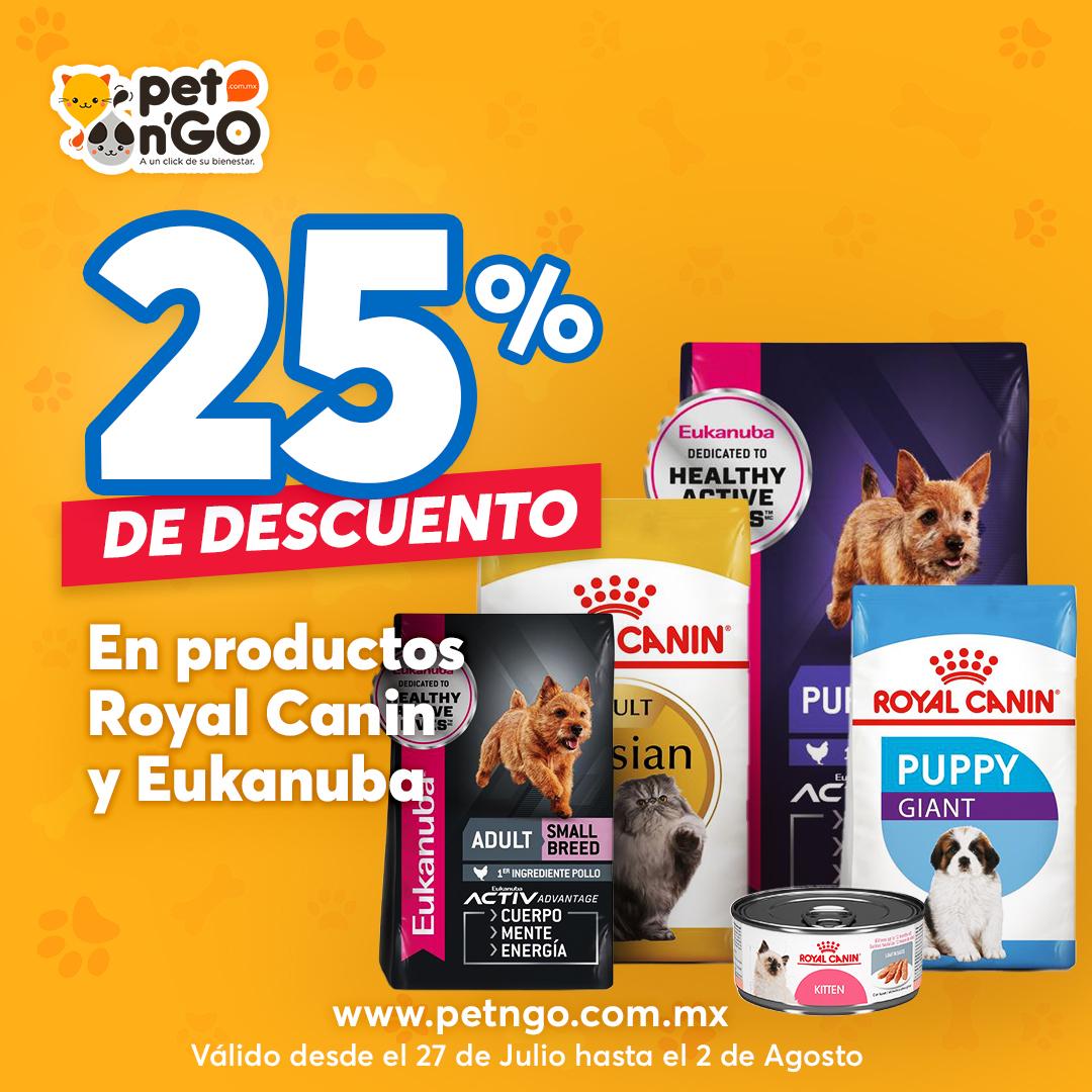 Petngo: Descuento del 25% en alimento Royal Canin y Eukanuba
