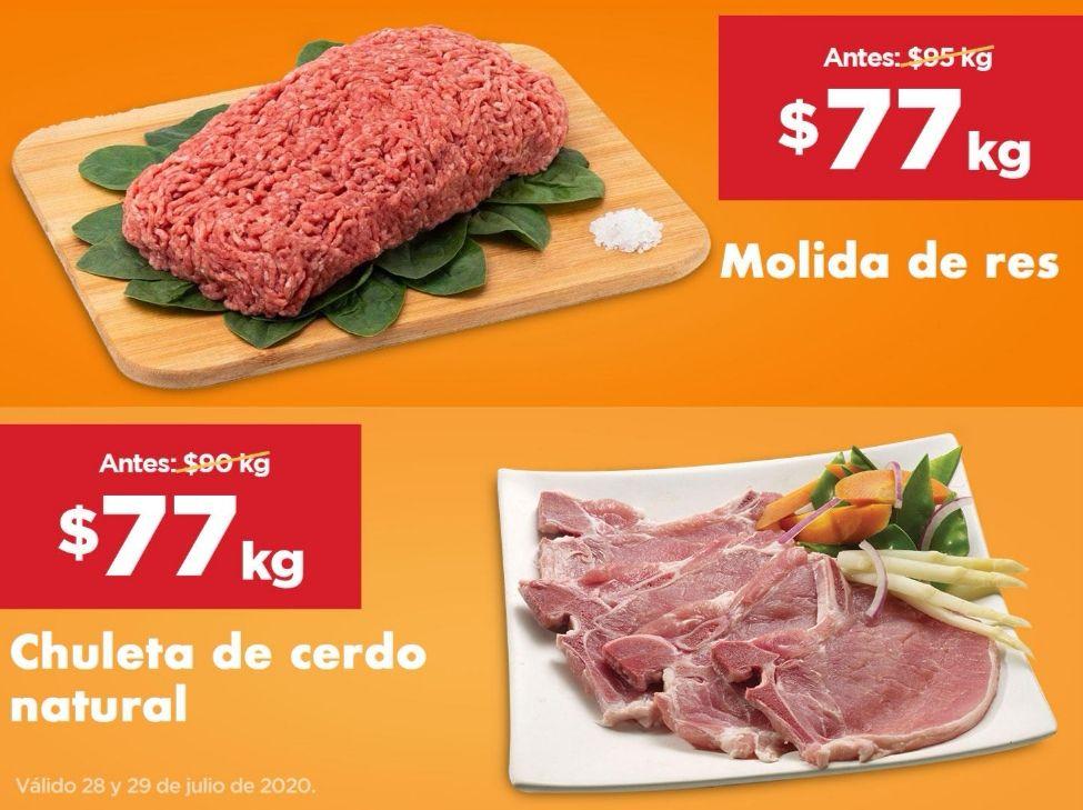 Chedraui: Molida de Res ó Chuleta natural de cerdo ó Panza de Res $77 kg.