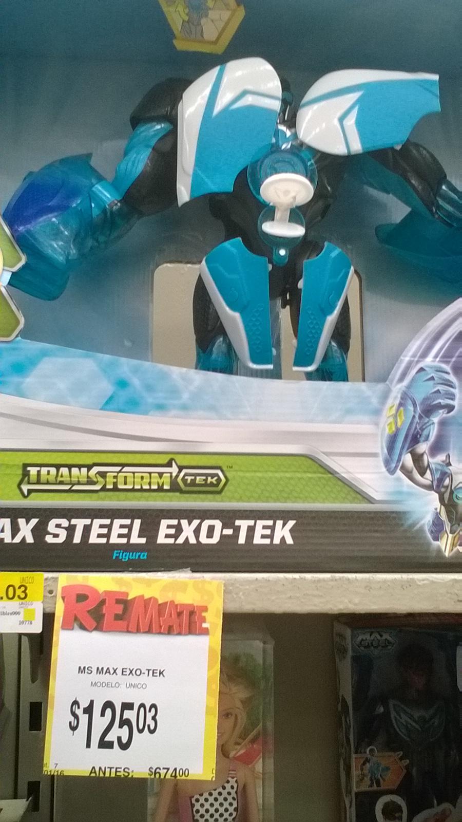 Bodega Aurrerá: Max Steel Exo Tec de $674 a $125.03 y figura básica mas accesorios a $35.03
