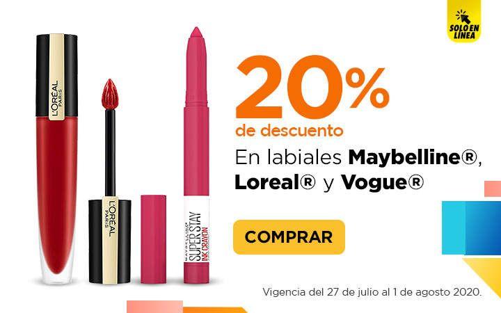 Chedraui: 20% de descuento en labiales Maybelline, Loreal y Vogue