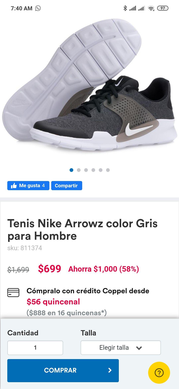 Coppel Tenis Nike Arrowz para Hombre