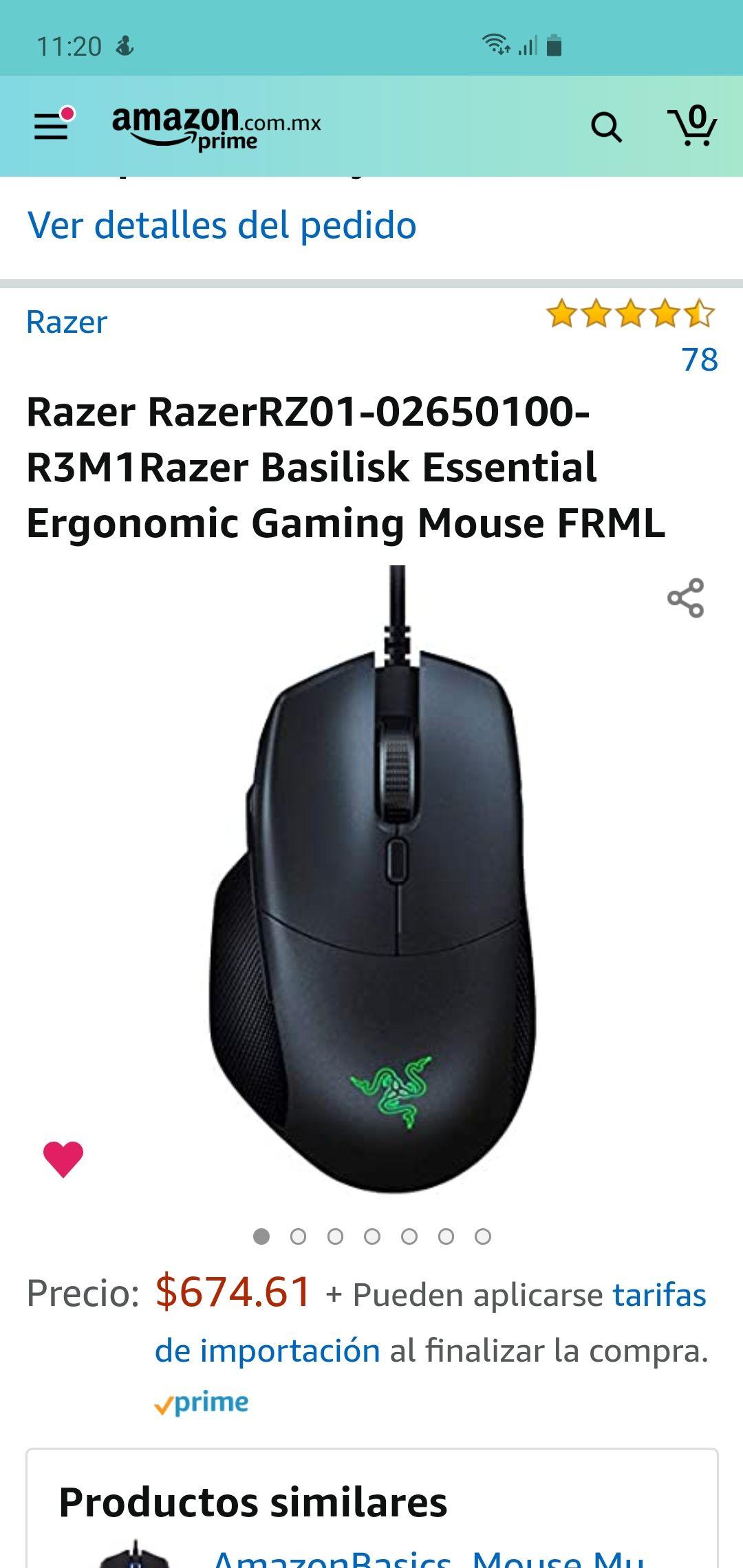 Amazon: Mouse Razer Basilik Essential