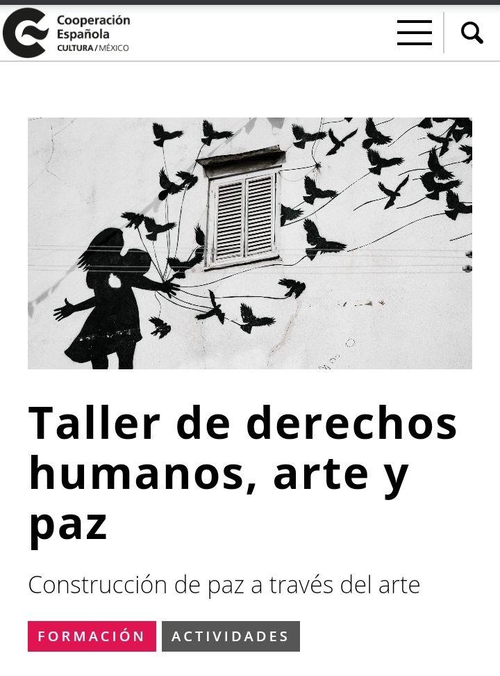 Taller de derechos humanos, arte y paz (Centro Cultural de España en México)