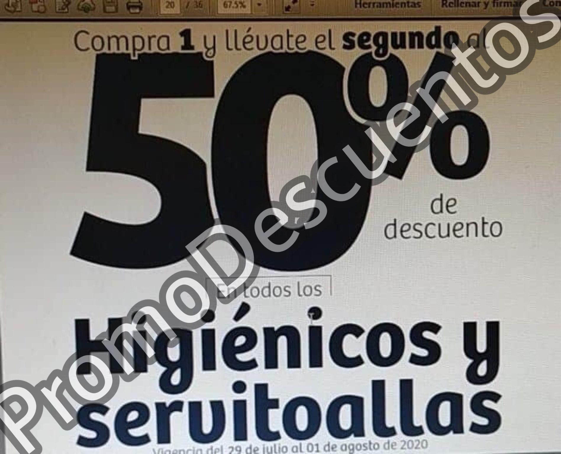 Julio Regalado 2020 en Soriana: Segundo al 50% en TODO el Papel Higiénico y Servitoallas