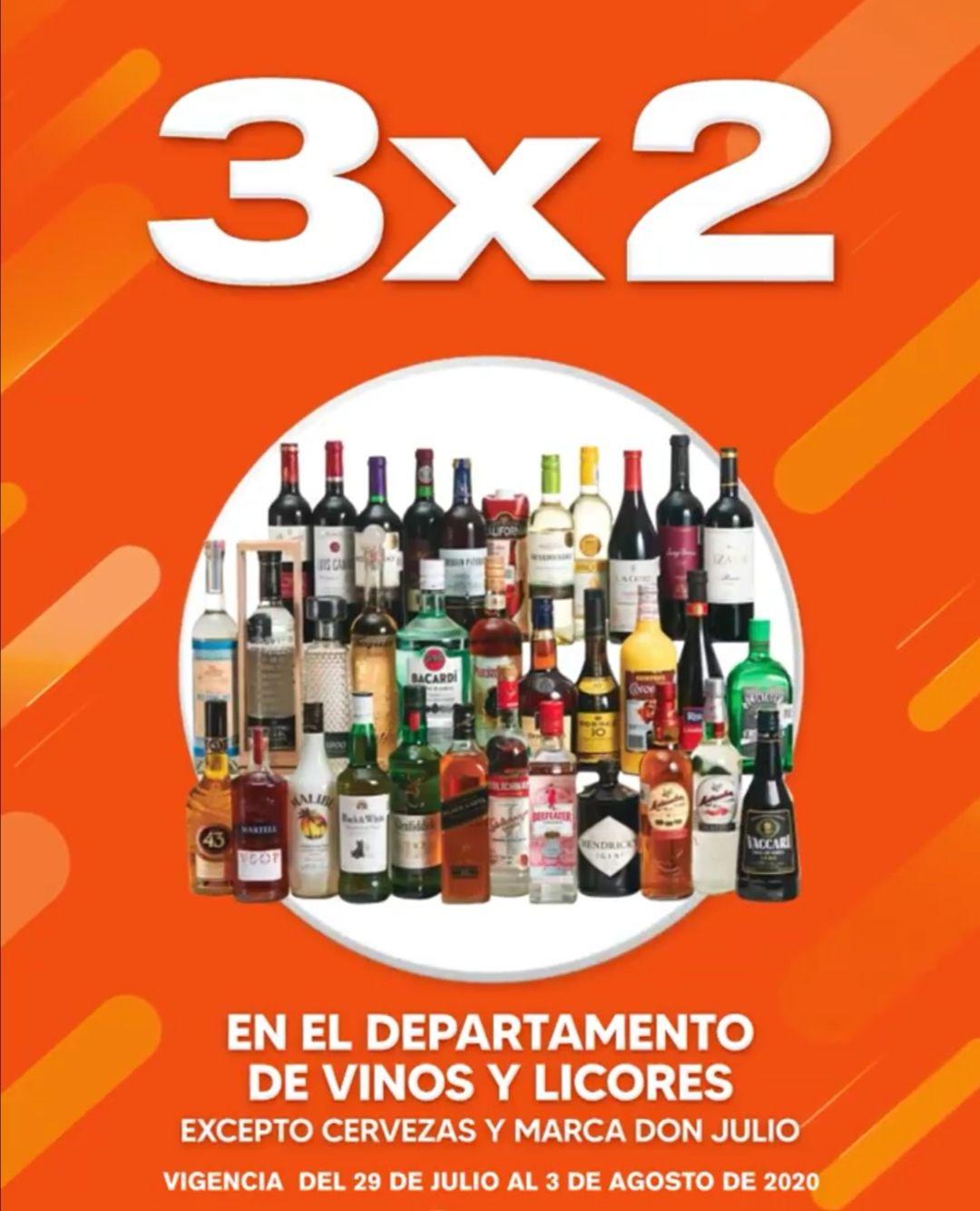 La Comer: Temporada Naranja 2020: 3 x 2 en todo el departamento de vinos y licores