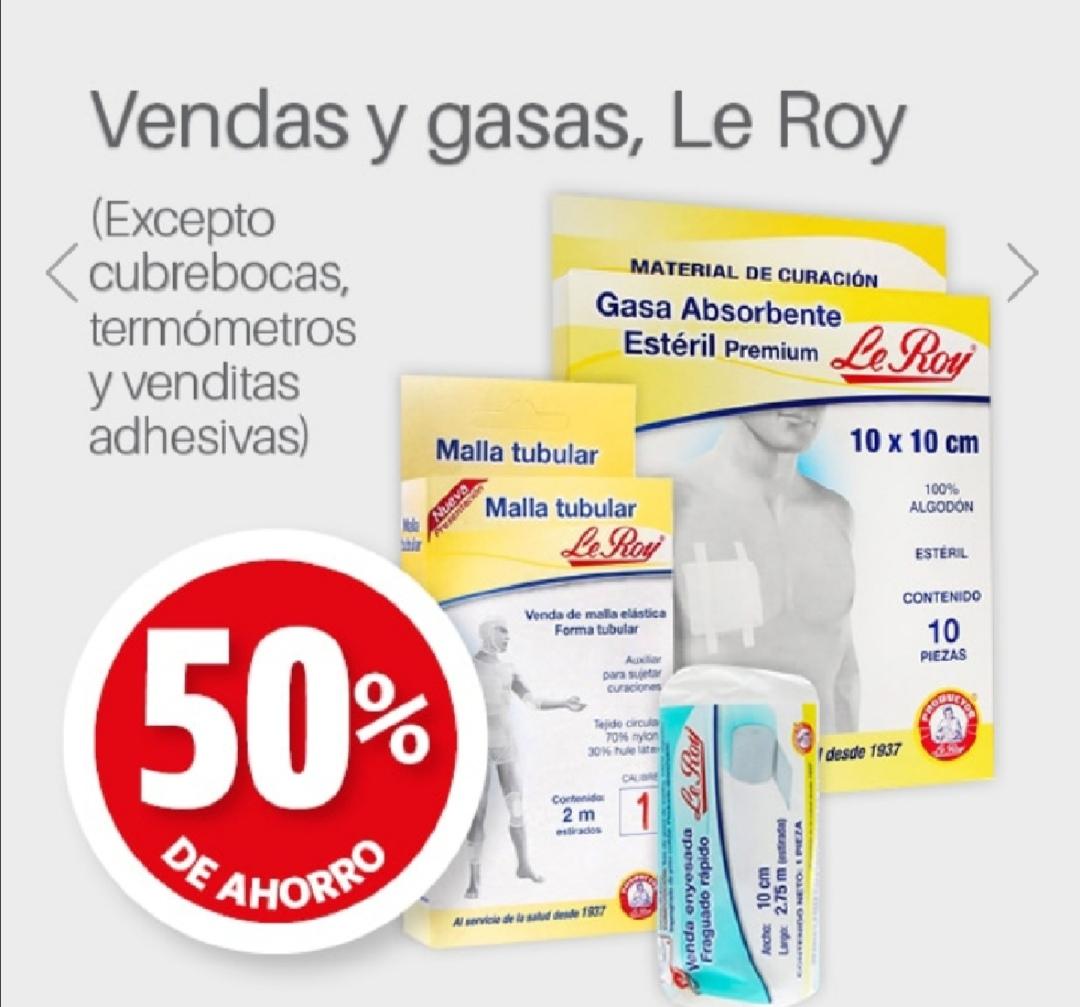 Farmacia Guadalajara: 50% de descuento Vendas y gasas Le Roy