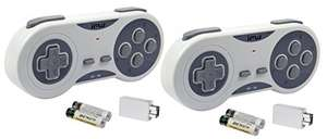 Amazon: Paquete de Dos - iMW Wireless Gaming Controller for NES | SNES Classic Edition y Wii Gris