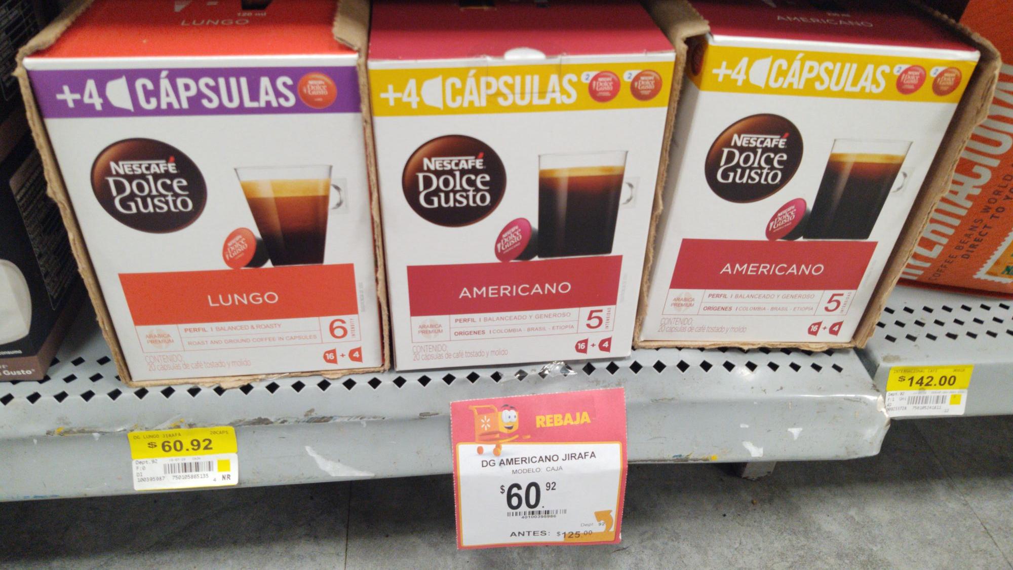 Walmart pirules Capusulas Dolce Gusto