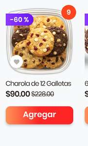 Rappi: Charola de 12 galletas de Subway