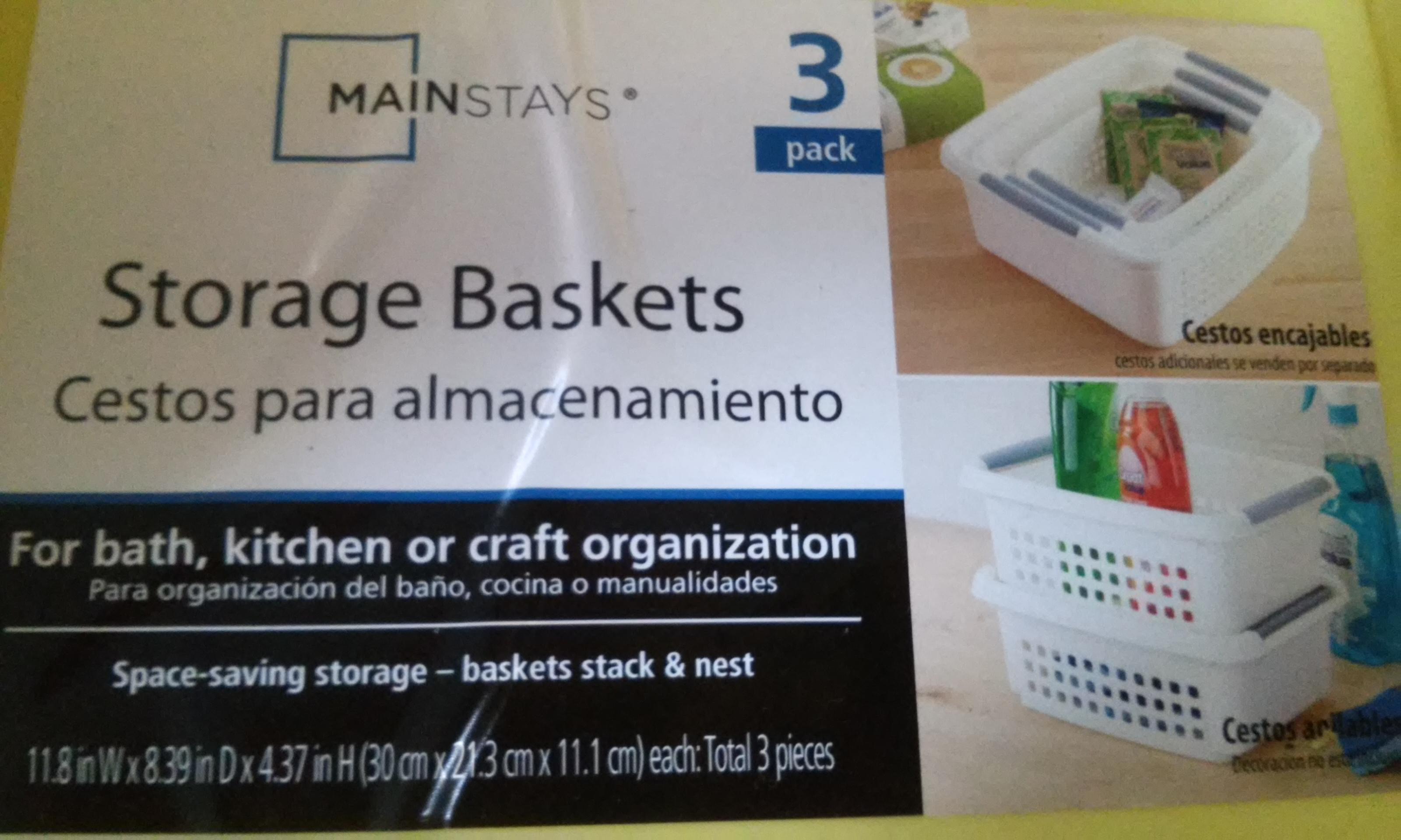 Walmart Cuitláhuac: Cestos para almacenamiento Mainstays 3pz a  $10.01