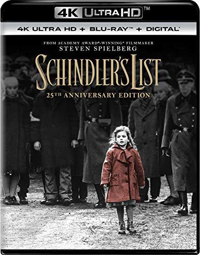 Amazon: Schindler's List 4K Blu-Ray (version USA)