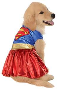 Amazon: Disfraz Supergirl para perro (Large)
