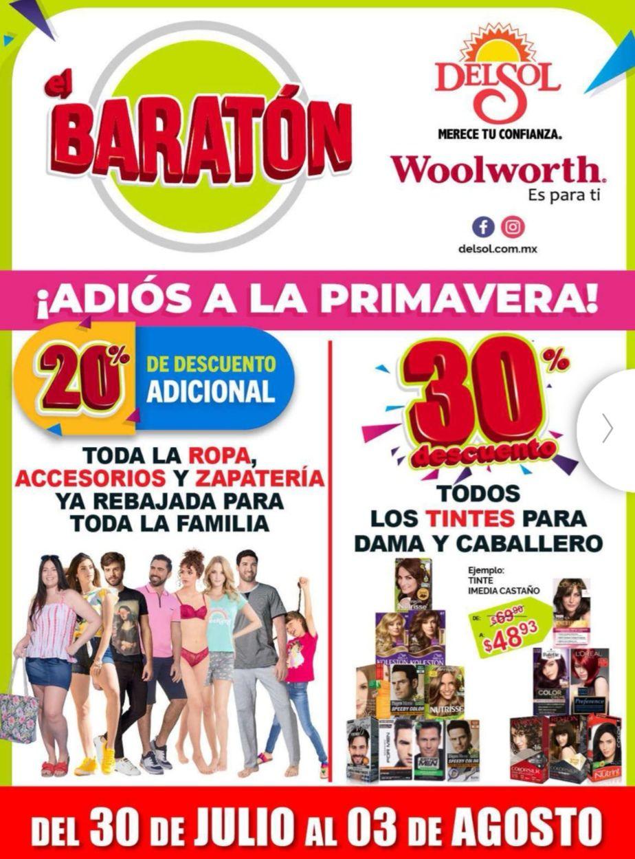 """Woolworth y Del Sol: 6° y último Folleto de Ofertas """"El Baratón"""" del Jueves 30 de Julio al Lunes 3 de Agosto"""