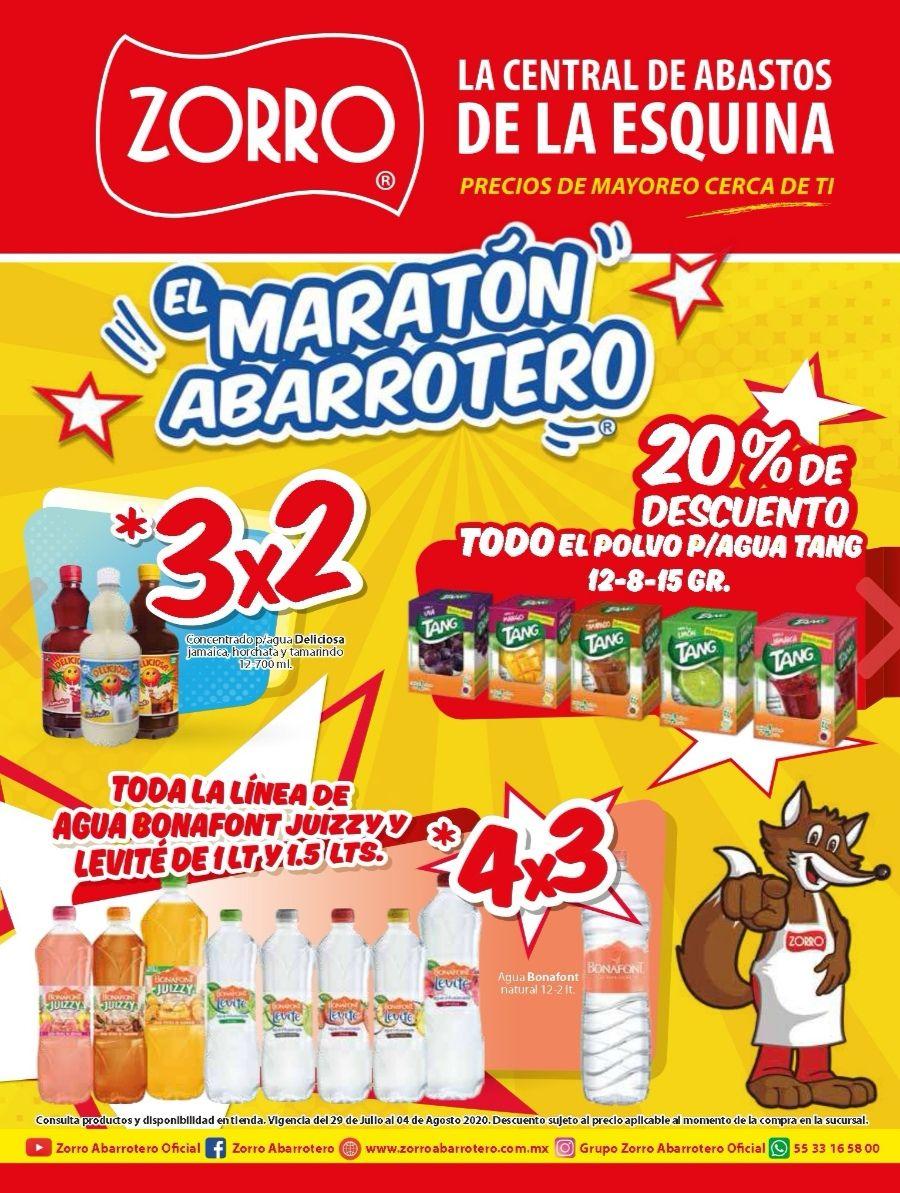 """Zorro: 8° Folleto de Ofertas Semanal """"El Maratón Abarrotero"""" del Miércoles 29 de Julio al Martes 4 de Agosto"""