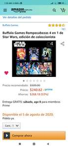 Amazon Rompecabezas 4 en 1 de Star wars