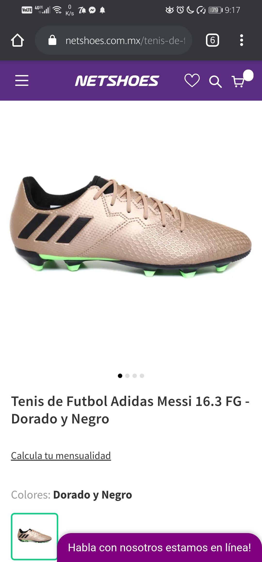 Netshoes Tenis Adidas Messi 16.3 FG