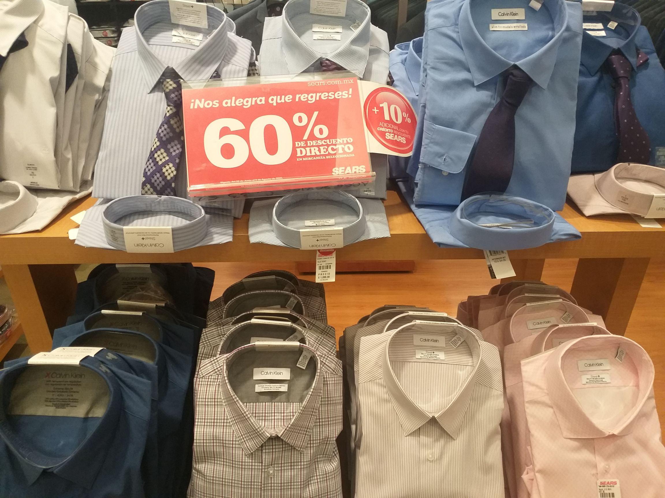 Sears: Camisas Calvin Klein desde $250, $450, $ 480 Con revolvente