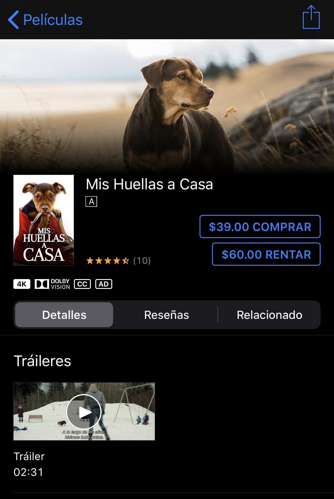 iTunes: Mis huellas a casa.