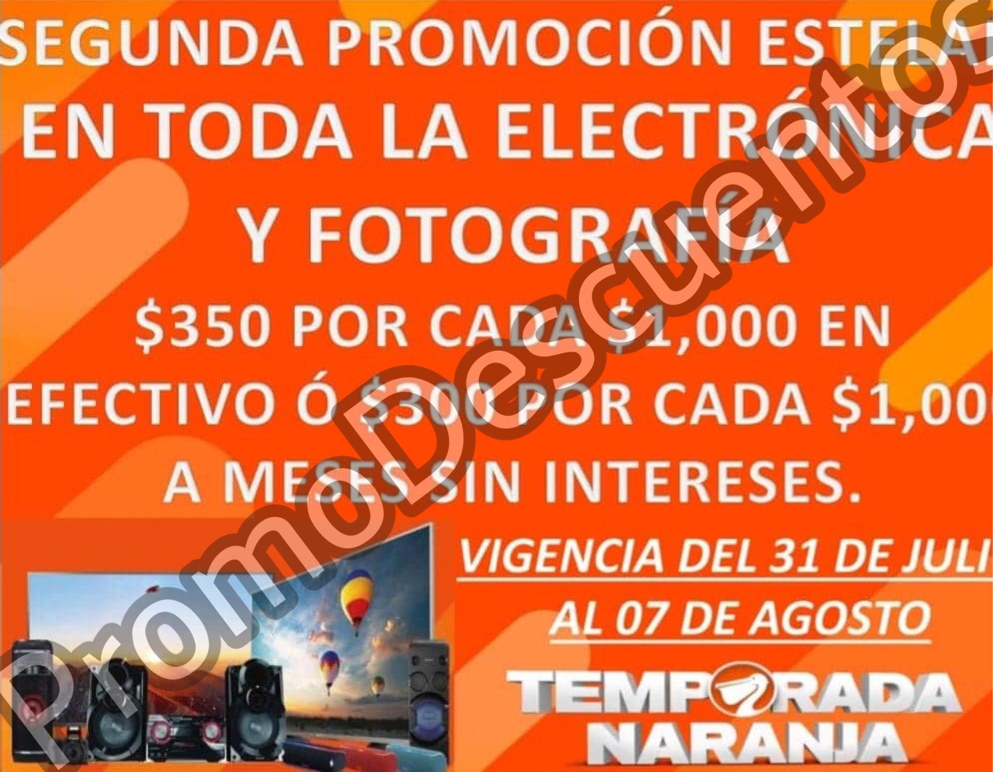 Temporada Naranja 2020 en La Comer: $350 (o $300 a MSI) por cada $1000 en TODA la Electrónica y Fotografía