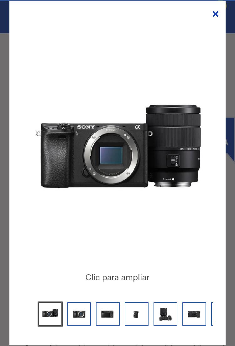 Best Buy: Sony – Cámara Mirrorless ILCE-6300 + Lente 18-135mm – Negro