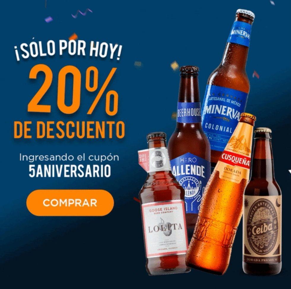 BeerHouse 20% descuento sólo hoy por aniversario