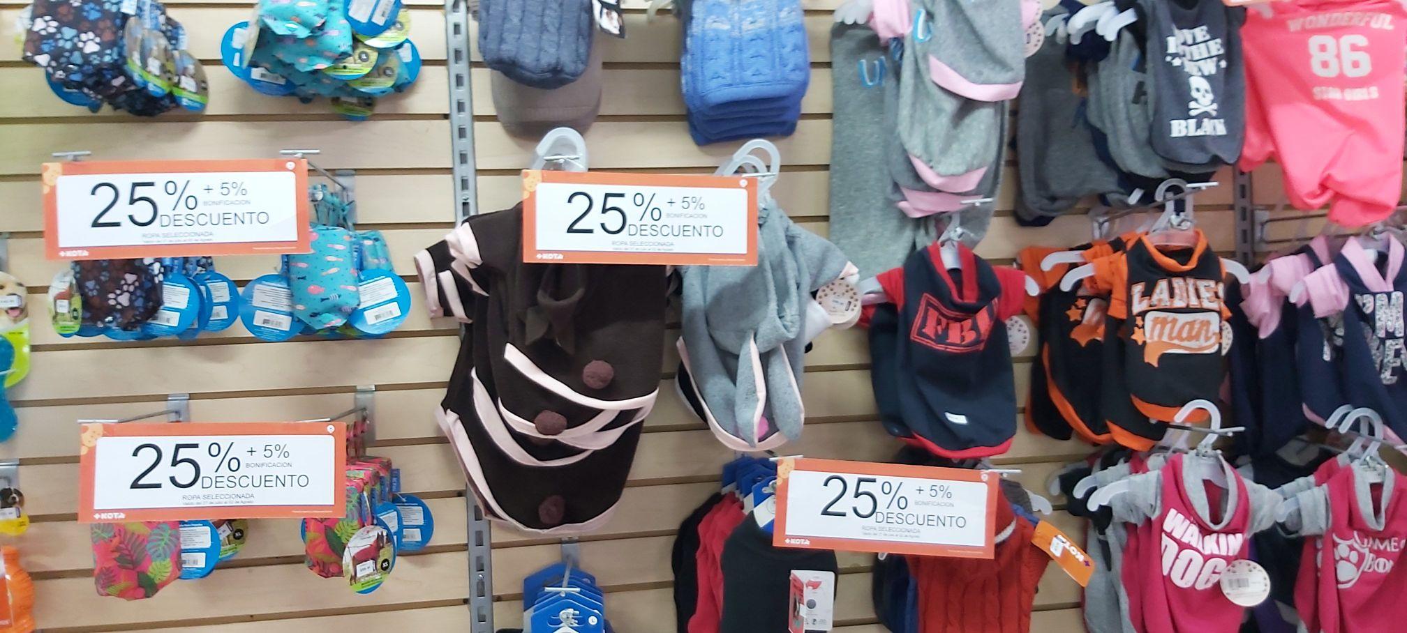 25% de descuento ropa +Kota