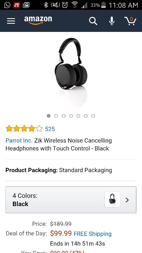 Amazon USA: audífonos Parrot Zik a $99usd más envío (no se envía a México directamente por Amazon)