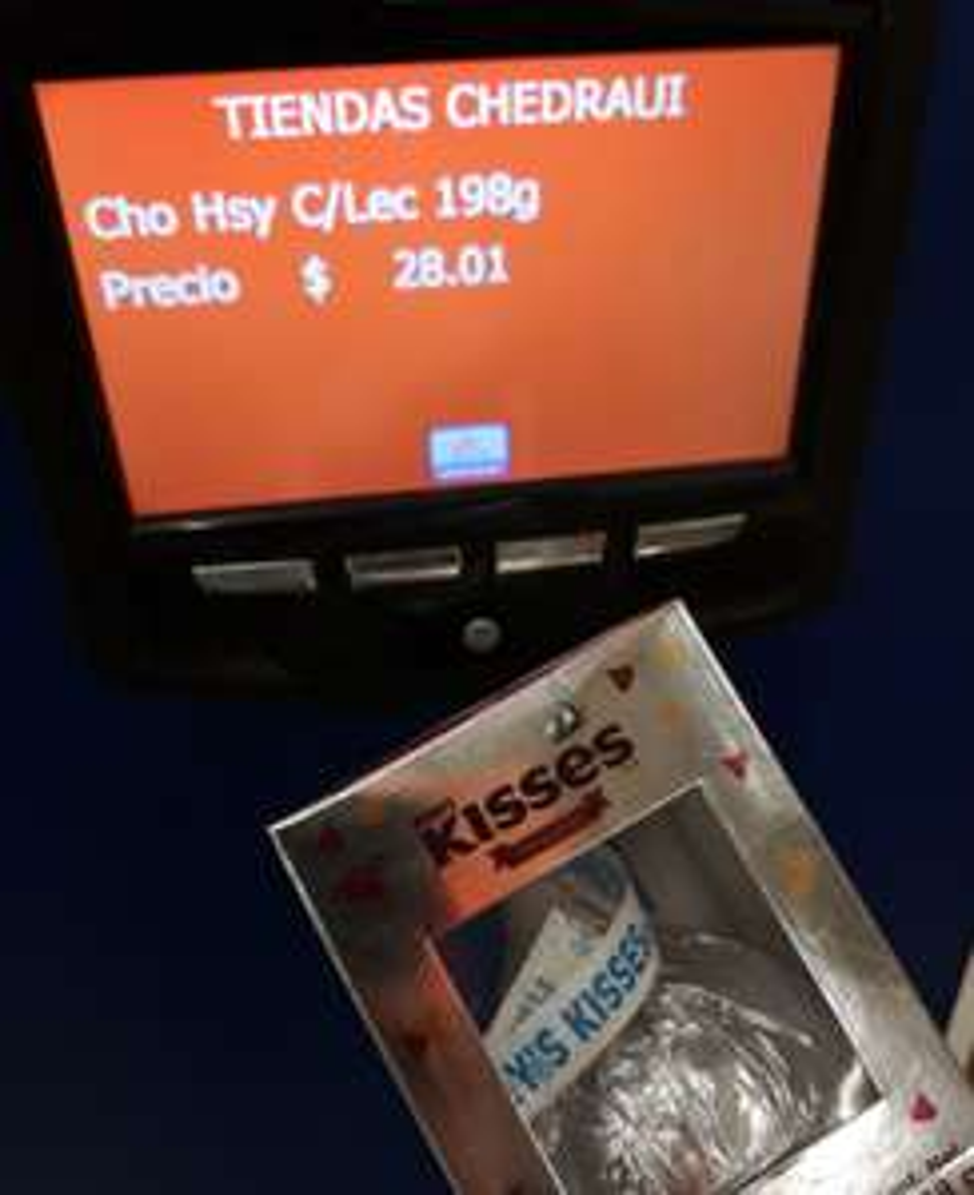 Chedraui: Chocolate kisses grande 3x2